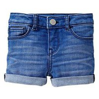 Cuffed denim shorts (indigo wash) | Gap