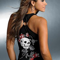Black Racerback tank top from VENUS