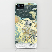 Cycling in the Deep iPhone & iPod Case by Dushan Milic