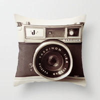 Camera Throw Pillow by Tuky Waingan