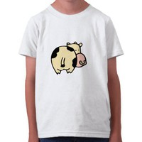 little wobblies doodle cow shirt from Zazzle.com
