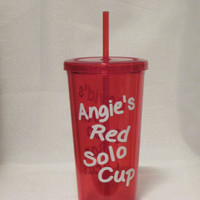 Red Solo Cup Personalized Tumbler 16 oz