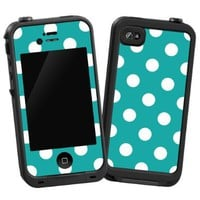 "White Polka Dot on Turquoise ""Protective Decal Skin"" for LifeProof 4/4S Case:Amazon:Cell Phones & Accessories"