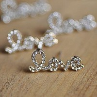Love in Shine Rhinestone Fashion Earrings | LilyFair Jewelry