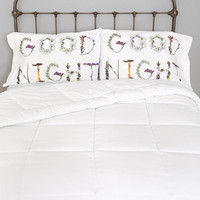 Urban Outfitters - Goodnight Pillowcase - Set Of 2