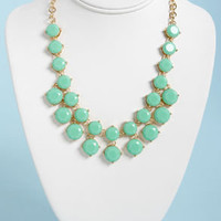 Loan Me a Stone Mint Green Statement Necklace