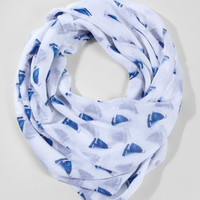 Smooth Sailing Printed Scarf