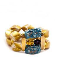 Gold Fashionista Devil Bracelet