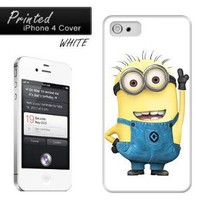 Cartoon Minion Pointing MISCi4079 iPhone 4 Cover Case White: Amazon.co.uk: Electronics