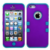 MYBAT IPHONE5HPCTUFFSO020NP Premium TUFF Case for iPhone 5 - 1 Pack - Retail Packaging - Grape/Tropical Teal:Amazon:Cell Phones & Accessories