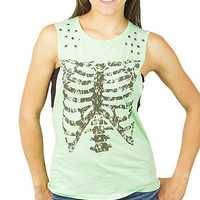 Girls Burnout Muscle 'Ribcage' Fashion Tank