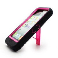 Apple iPhone 5 Hybrid Case with Kickstand- Pink:Amazon:Cell Phones & Accessories