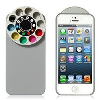 Wisedeal Special Effect Filters Wheel & Protective Case for iPhone 5 (Gray):Amazon:Cell Phones & Accessories