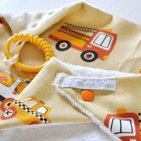 Cwtch Bugs Bamboo Terry Bib & Minky Baby Comforter in by CwtchBugs