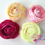 Roses Hair clips or headbands Baby headband by littlelambshop