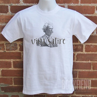 viva satire classic fit tshirt by BookFiend on Etsy