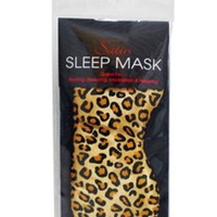 Swissco Satin Sleep Mask Leopard Print:Amazon:Beauty