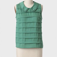 Gresham Tiered Top In Green at ShopRuche.com