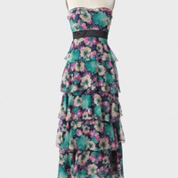 Classified Tiered Floral Maxi Dress at ShopRuche.com