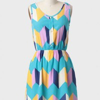 Spring Break Geometric Print Dress at ShopRuche.com