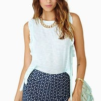 Ruffled Muscle Tee - Mint