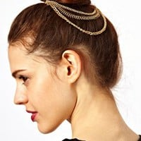 ASOS Chain Bun Hair Combs at asos.com