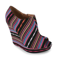 multi-print-peep-toe-wedge BLACK - GoJane.com