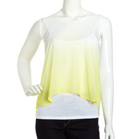 Ombre Hi-Lo Tank Top, Yellow