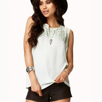 Eyelash Lace Georgette Top