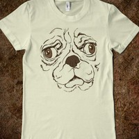 Derpy Pug (juniors) - Echo Shirts - Skreened T-shirts, Organic Shirts, Hoodies, Kids Tees, Baby One-Pieces and Tote Bags