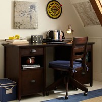 Chatham Large Storage Desk + Hutch