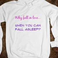 Love/sleep hoodie ~JoBows~ - JoBows - Skreened T-shirts, Organic Shirts, Hoodies, Kids Tees, Baby One-Pieces and Tote Bags