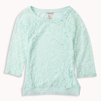 Lace Raglan Top | FOREVER21 girls - 2048491210