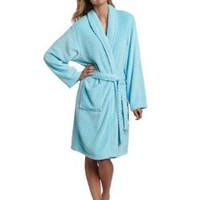Seven Apparel Hotel Spa Collection Herringbone Textured Plush Robe, Green:Amazon:Home & Kitchen