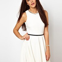 River Island Textured Skater Dress at asos.com