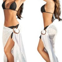 Sexy White Beach Pool Sarong Pareo Cover Up:Amazon:Clothing
