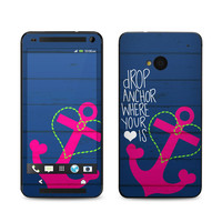 HTC One Skin - Drop Anchor by Brooke Boothe