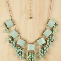 Clustered Fringe Necklace