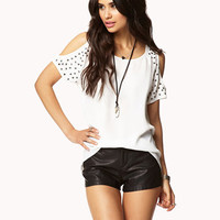 Studded Sleeve High-Low Top | FOREVER 21 - 2039818572