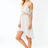 Crochet-High-Low-Dress BLACK IVORY - GoJane.com