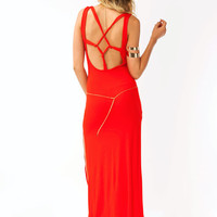 knotted-open-back-maxi BLACK TOMATO - GoJane.com