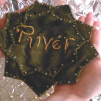 Dr Who Inspired River Song Prayer Leaf by SciFiKnits on Etsy