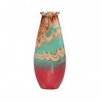 "Dale Tiffany 13"" Art Glass Vase - AG500244 - Vases - Decorative Accents - Decor"