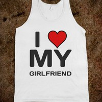girlfriend  - Clever Clothes - Skreened T-shirts, Organic Shirts, Hoodies, Kids Tees, Baby One-Pieces and Tote Bags