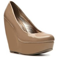 Madden Girl Craftty Patent Wedge Pump