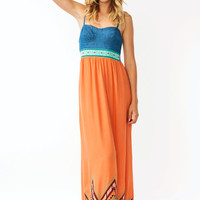 denim-embroidered-maxi-dress ORANGEBLUE - GoJane.com