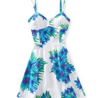 Floral Open-Back A-Line Dress - Aeropostale