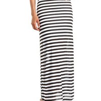 Fold-Over Waist Striped Maxi Skirt: Charlotte Russe