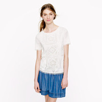 Graphic eyelet tee - tops - Women's shirts & tops - J.Crew