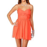 Elly- Short Fresh Coral Prom Dress